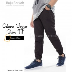 Celana Jogger Slim Fit JPS Black