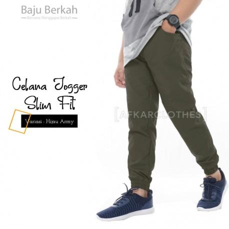 Celana Jogger Slim Fit JGS - Hijau Army