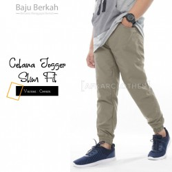 Celana Jogger Slim Fit JGS - Cream