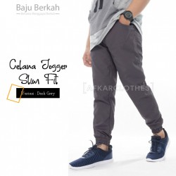 Celana Jogger Slim Fit JGS - Dark Grey