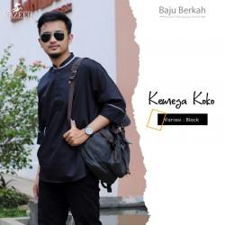 Kemeja Koko Pathani Nazeer KPN - Black