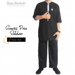 Gamis Pria Lengan Pendek ZQS - Black