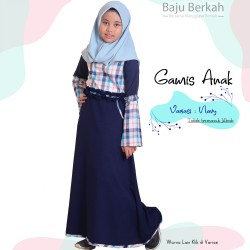 Gamis Anak Kids Almira - Navy
