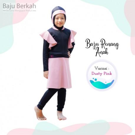 Baju Renang Anak Rocella Karina - Dusty Pink