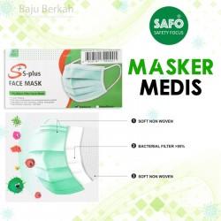 Masker Medis 3 Ply S Plus