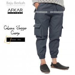 Celana Jogger Cargo JGR.E - Abu