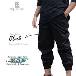 Celana Jogger Pria HWR - Black