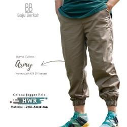 Celana Jogger Pria HWR - Army