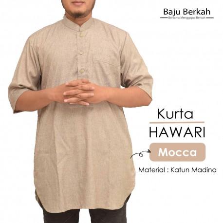 Koko Pakistan Kurta HAWARI Pria Muslim - Mocca
