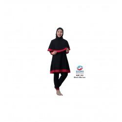Baju Renang Muslimah Edora EMP 002 Black Maroon