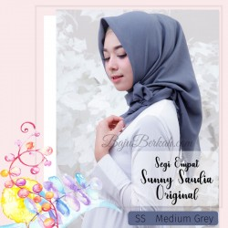 Jilbab Sunny Saudia Original - Medium Grey
